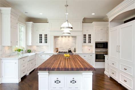 white kitchen cabinets with butcher block countertops home furniture design