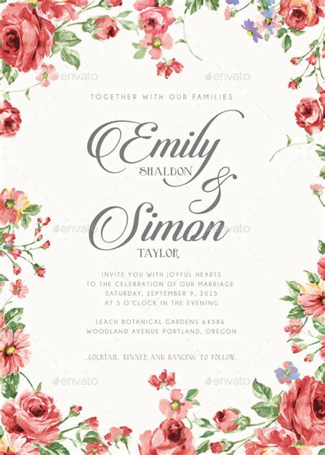 rustic floral wedding invitations bnimit graphicriver