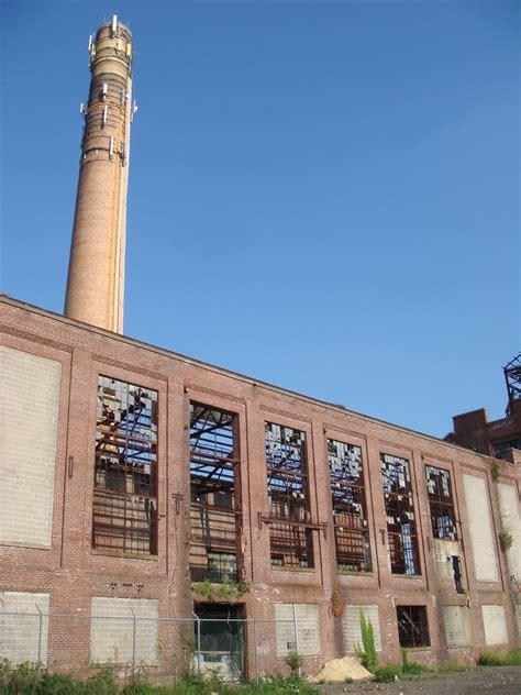 abandoned asbestos factory main boiler house building