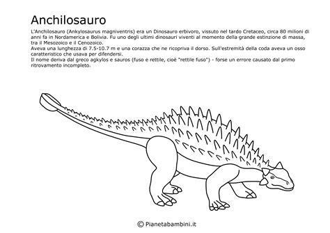immagini di dinosauri da colorare per bambini disegni di dinosauri da ritagliare e colorare