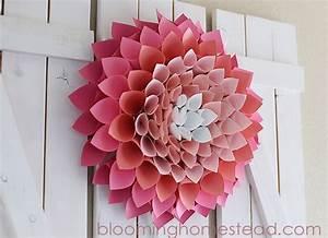 DIY Paper Heart Wreath - Blooming Homestead