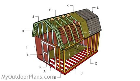 free 10x12 shed plans with loft 12x16 gambrel shed roof plans myoutdoorplans free