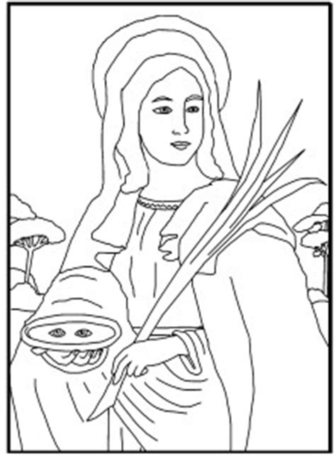 Free Coloring Page ~ Saint Lucy - Schola Rosa