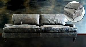Canapé Vintage Cuir : photos canap en cuir vintage ~ Teatrodelosmanantiales.com Idées de Décoration