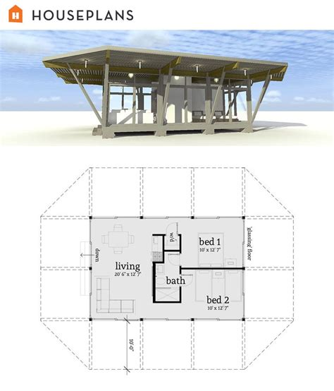 Bungalow Style House Plan - 2 Beds 1.50 Baths 964 Sq/Ft