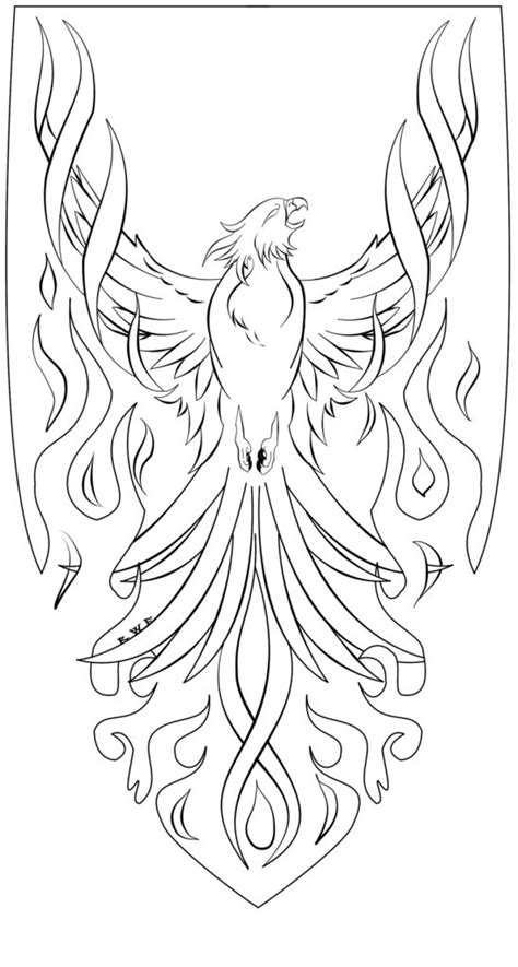 Phoenix stencil with flames   creatures/animals   Pinterest   Phoenix, Phoenix Bird and Birds