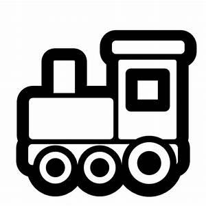 Train Cartoon Black And White
