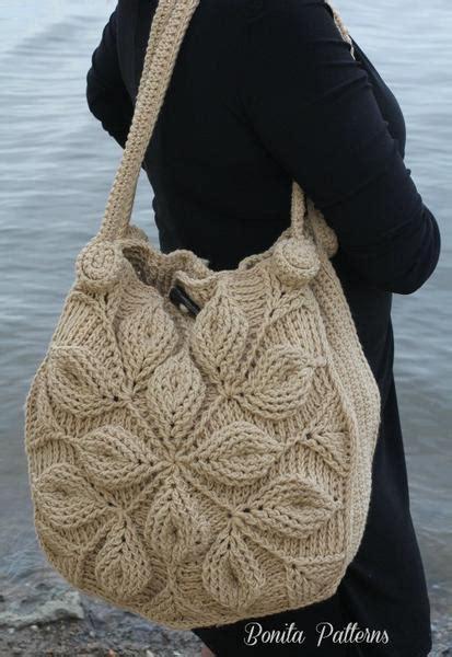 embossed garden handbag crochet pattern pf bonita patterns
