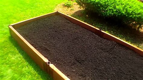 Raised Bed Organic Vegetable Gardening Planting With Deep