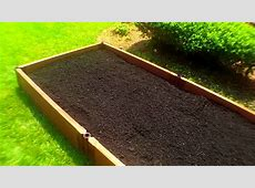 Raised Bed Organic Vegetable Gardening Planting With Deep