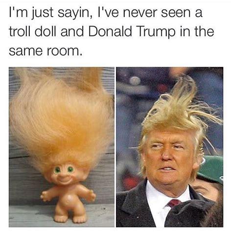 Donald Trump Hair Memes - trum clinton meme