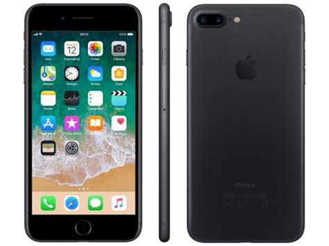iphone 7 plus zubehör iphone 7 plus apple 32gb preto matte 4g tela 5 5 c 226 m 12mp selfie 7mp ios 11 proc chip a10