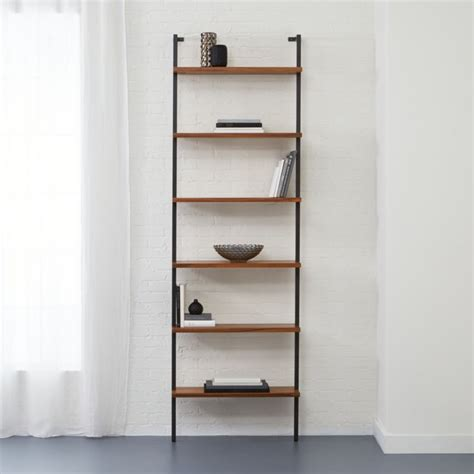 Wall Mountable Bookshelves by Helix 96 Quot Acacia Bookcase Cb2