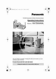 Panasonic 5 8 Ghz Cordless Phone Answering Machine Manual