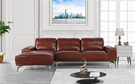 Modern Real Leather Sectional Sofa