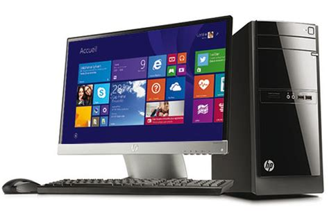 hp ordinateur de bureau pc de bureau hp 110 522nfm 4088867 darty