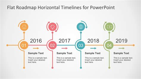 flat timelines powerpoint templates timeline