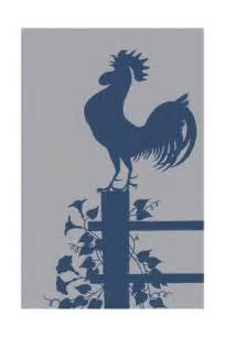 Rooster On Fence Silhouette