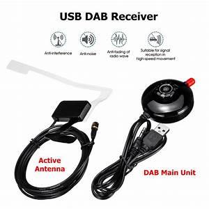 Car Home Sma Usb Dab  Radio Receiver Stick Tuner With Antenna