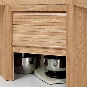 Hardwood Appliance Garage with Tambour Door Kit-Hardwood