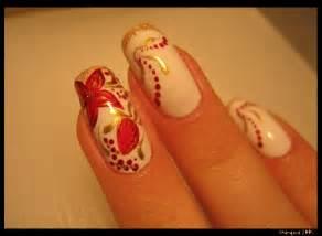 Red flower nail art by shangova on deviantart