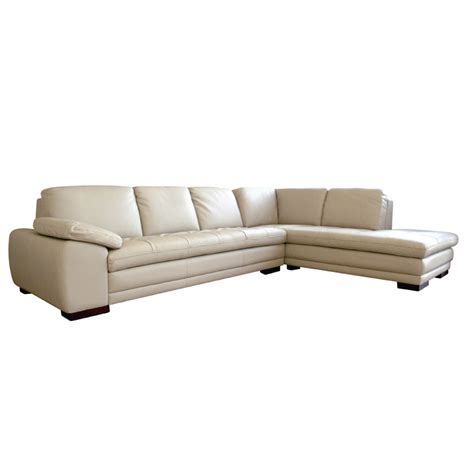m chaise wholesale interiors leather sofa with chaise biege 625