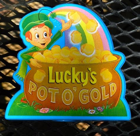 pot of gold lucky charms vintage lucky charms pot of gold plastic bank dated 1995 general mills
