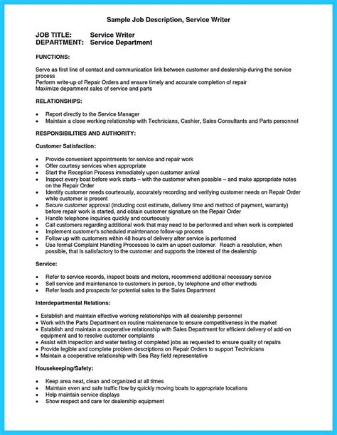 Descriptions For Resume by Arranging A Solid Automotive Resume