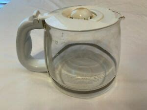 Coffee pot replacement glass coffee pot for 10 or 12 cup coffee makers. Gevalia 12 Cup Replacement Carafe Coffee Maker Model CM500 Glass Pot White Lid | eBay