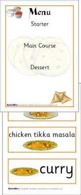 indian restaurant role play pack sb sparklebox