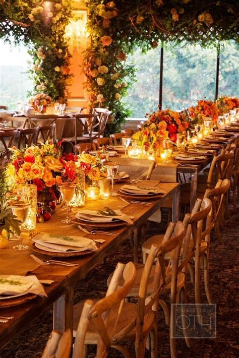 elegant autumn themed new york wedding at oheka castle wedding reception ideas mod wedding