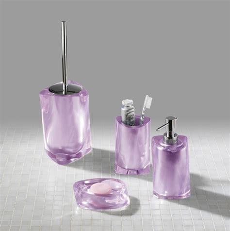 Twist Lilac Bathroom Accessories  Contemporary Bathroom