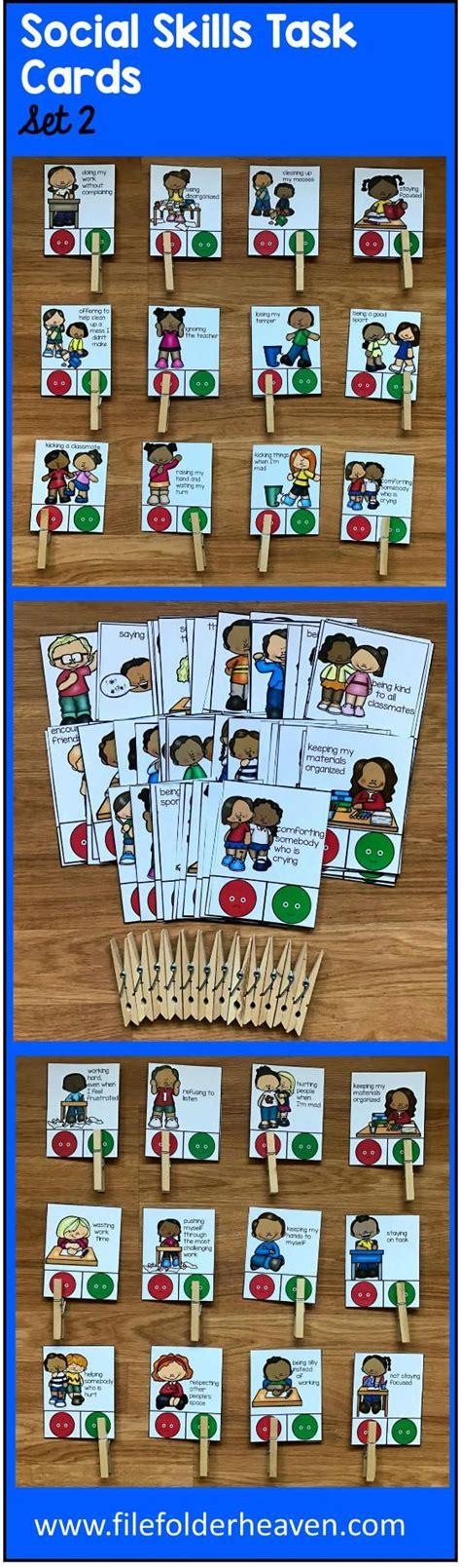 social skills preschool these social skills task cards set 2 include 1 complete 295