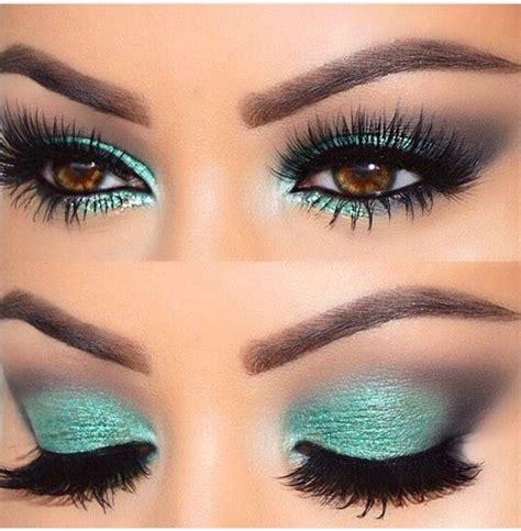verde aqua  imagenes maquillaje de ojos maquillaje ojos marrones maquillaje  ojos cafes