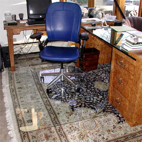 glass office chair mat