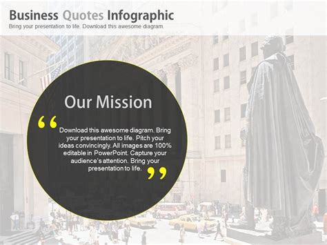business quotes  mission  vision powerpoint