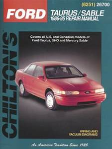 Ford Taurus Mercury Sable Repair Manual 1986