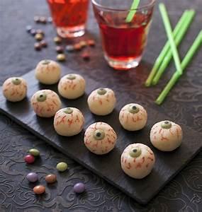 Recette Apéro Halloween : yeux d halloween fa on boule coco les meilleures recettes de cuisine d 39 d lices ~ Melissatoandfro.com Idées de Décoration
