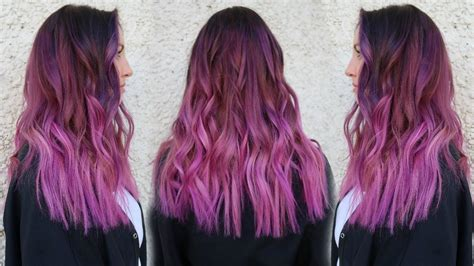 smokey magenta hair color tutorial  pravana xl vivids