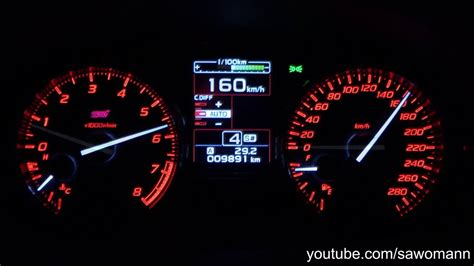 What Is 300 Km In Mph by 2016 Subaru Wrx Sti 300 Hp 0 100 Km H 0 100 Mph Acceleration