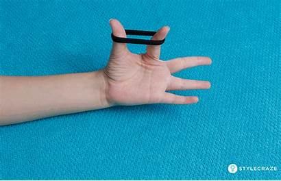 Exercises Extension Finger Band Trigger Elastic Pain
