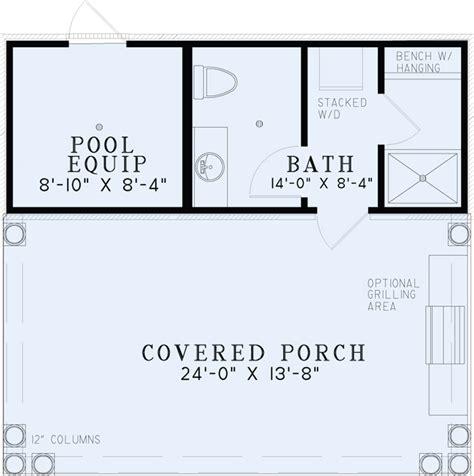 and bathroom house plans 1495 poolhouse plan with bathroom house plans