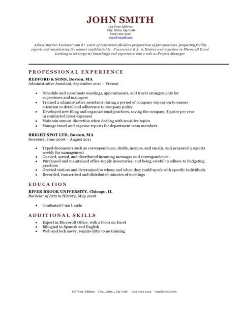 Resume Templates by Expert Preferred Resume Templates Resume Genius