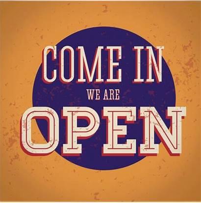 Open Sign Come Vector Illustration Re Depositphotos