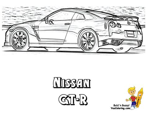 nissan gt   coloring pages
