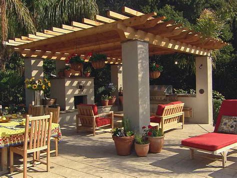 landscaping gardening backyard covered patio design