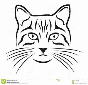 Cat Face Outline Clip Art (32+)