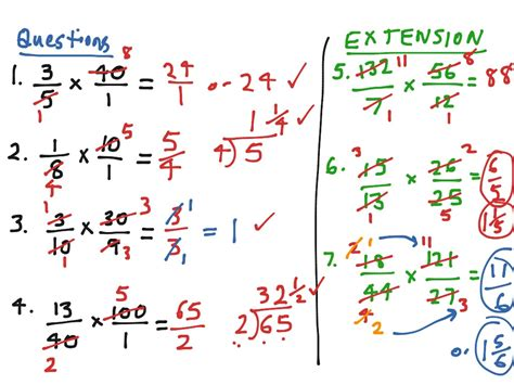 Showme  Multiplying Fractions Using Bow Tie