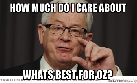How Do I Make Memes - how much do i care about whats best for oz make a meme