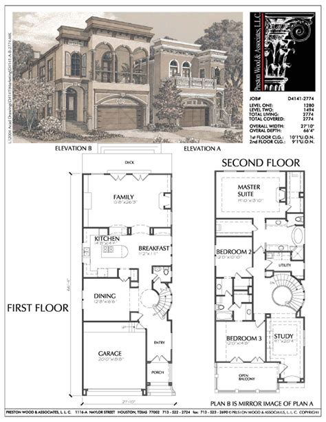narrow home floor plans narrow home plans small narrow lot inner city house